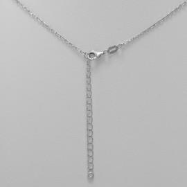 Dvojitý stříbrný náramek s křížkem, délka 17 až 22 cm