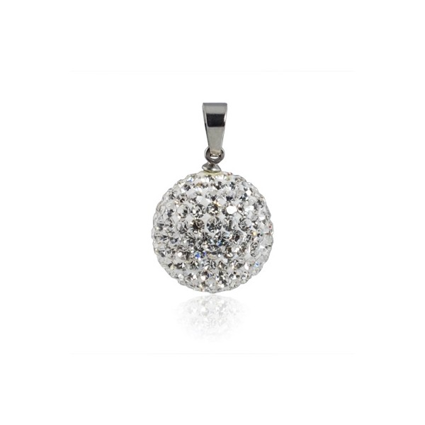Ocelový náhrdelník s kruhovou destičkou, délka řetízku 45 cm