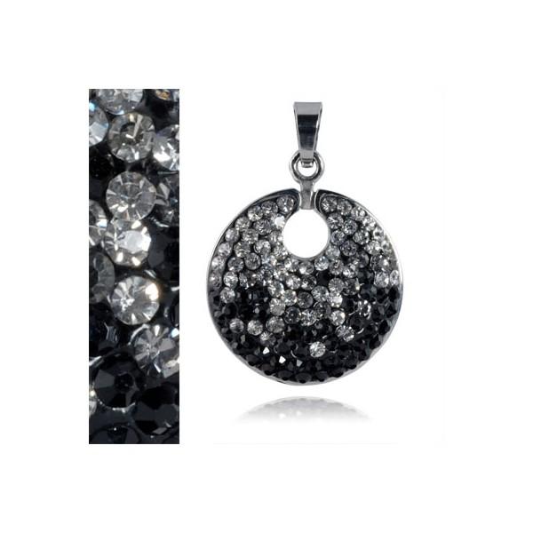 Ocelový náhrdelník - srdce, délka řetízku 45 cm