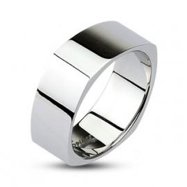 Stříbrný piercing do nosu - čtvercový kamínek