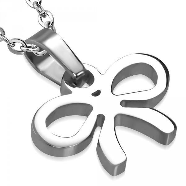 Stříbrný přívěšek kříž posázený zirkony