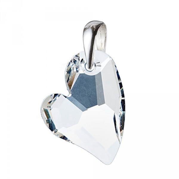 Swarovski(R) Crystal Stříbrný přívěsek srdce 28mm čirý křišťál se Swarovski Elements