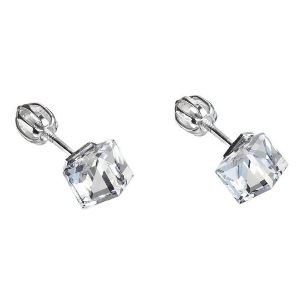 Swarovski(R) Crystal Silvego stříbrný set SRDCE 14mm se Swarovski(R) Crystals Vitrail Light