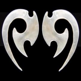 Stříbrný piercing do obočí s čirým kamínkem
