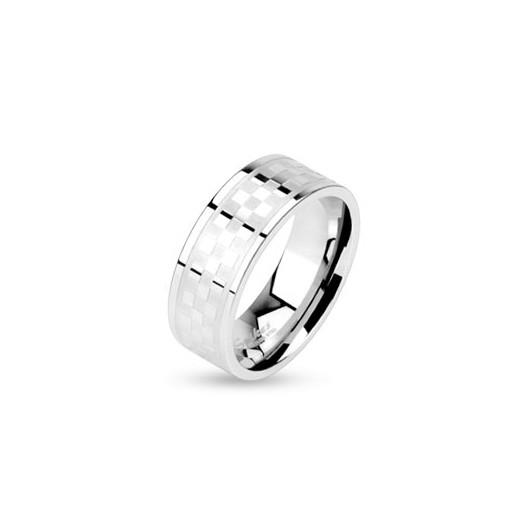 Stříbrný prsten se syntetickým ametystem