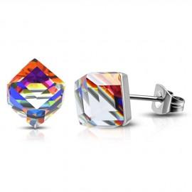 Stříbrný set Rhombus 19mm Crystal AB se Swarovski Elements