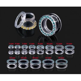 Silvego stříbrný set šperků se Swarovski(R) Crystals Queen Baguette Bermuda Blue