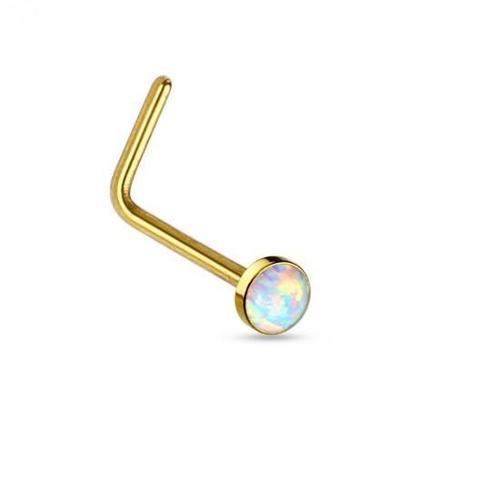 Zlaté dětské náušnice s kameny Crystals from SWAROVSKI®, barva: Aquamarine