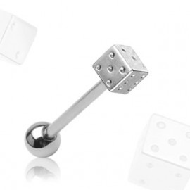 Piercing ATCDice A s krystaly Swarovski Elements