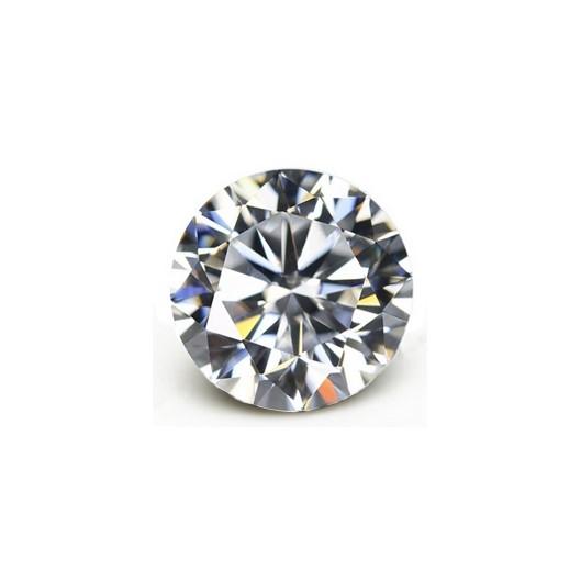 Černý piercing - kruh s kamínkem, čirá barva