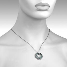 Prsten chirurgická ocel s kamínkem HWRM2217