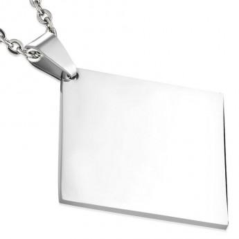 Stříbrný řetízek - čtvercový, tl. 1 mm, délka 50 cm