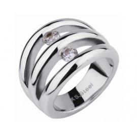 SILVEGO stříbrný náhrdelník se Swarovski(R) Crystals srdce čiré