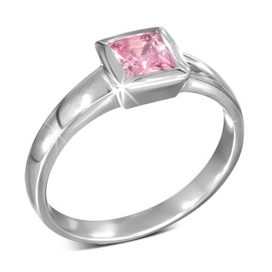 Ocelový prsten s kytičkami, velikost prstenu 55