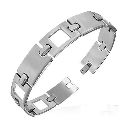 Ocelový prsten se zirkonem, velikost prstenu 55