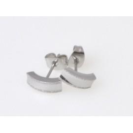 Stříbrné náušnice šroubovací - kytičky