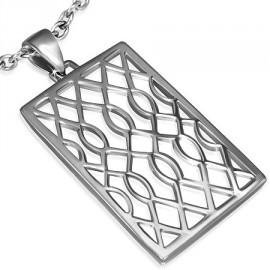 Stříbrný přívěsek De-Art Crystal Amethyst se SWAROVSKI ELEMENTS