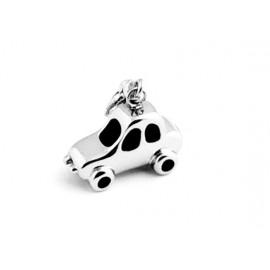 Zlacený ocelový prsten se zirkonem