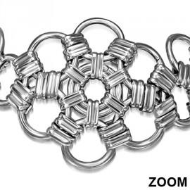 Ocelový přívěšek - vojenská známka, 16 x 23 mm