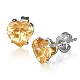 Stříbrný náhrdelník srdce a nekonečno