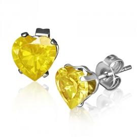 Stříbrný náhrdelník srdce s tlapkou