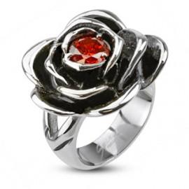 Stříbrná souprava pro ženy červené srdce