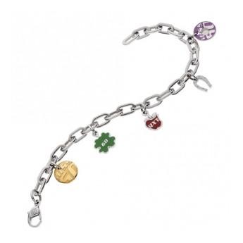 Stříbrný přívěsek s krystaly Swarovski mix barev motýl 34192.3 sakura