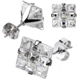 Náhrdelník ocel se Swarovski krystaly čirý posuvný 42006.1 zlatý