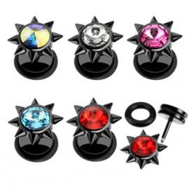 Náhrdelník ocel se Swarovski krystaly čirý posuvný 42005.1