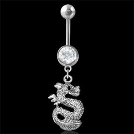 Stříbrný prsten s krystaly Swarovski bílý obdélník35053.1