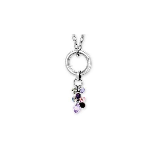 Náušnice bižuterie se Swarovski krystaly růžový motýl 51061.3