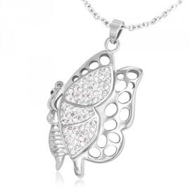 Sada šperků s krystaly Swarovski náušnice a přívěsek zlaté kulaté 39148.5