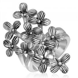 Sada šperků s krystaly Swarovski náušnice a přívěsek mix růžové kulaté 39148.3
