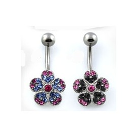 Stříbrný prsten s krystaly Swarovski mix barev modrá růžová 35031.4