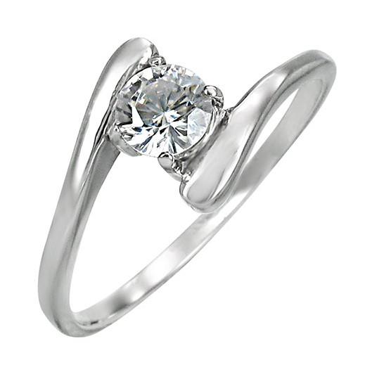 Stříbrný prsten s perlou bílý 35022.1, velikost prstenu 58