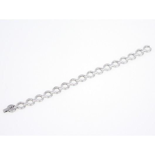 Stříbrné náušnice kruhy s krystaly Swarovski bílý kruh 31132.1
