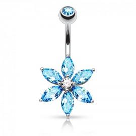 Stříbrné náušnice s krystaly Crystals from Swarovski®, FUCHSIA