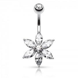 Stříbrné náušnice s krystaly Crystals from Swarovski®, PERIDOT