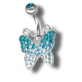 Stříbrné náušnice s krystaly Crystals from Swarovski®, BERMUDA BLUE