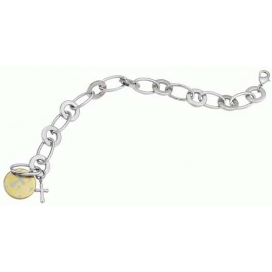 Stříbrný řetízek s přívěškem houslový klíč a srdce