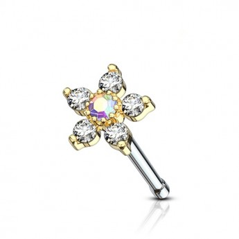 Náhrdelník NSSW03 rose s krystaly Swarovski Elements