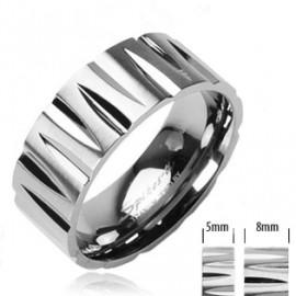 Kožený náhrdelník - ocelový korálek, tl. 5 mm, délka 45 cm