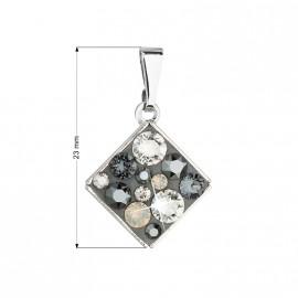 Naušnice kroužky chirurgická ocel s kamínky HWEB001