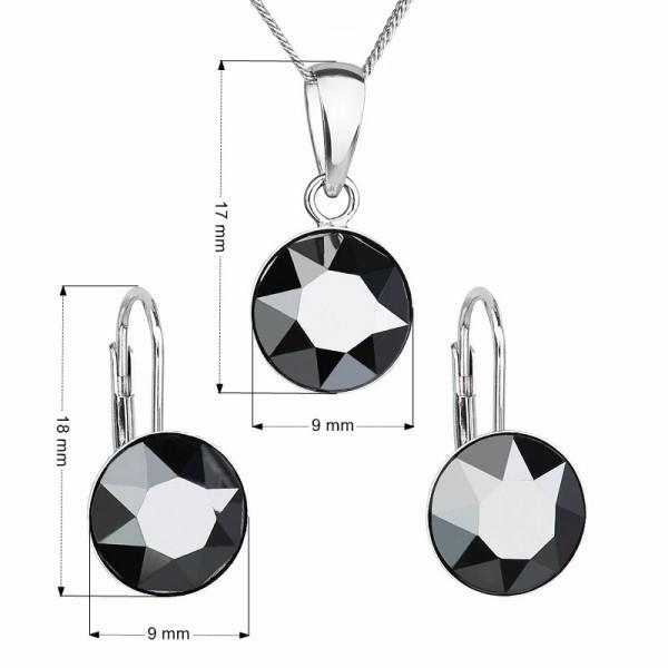 Ocelové náušnice - kruhy s kříži