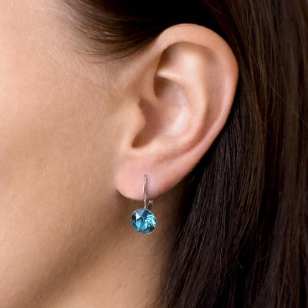 Piercing do nosu - modrý opál