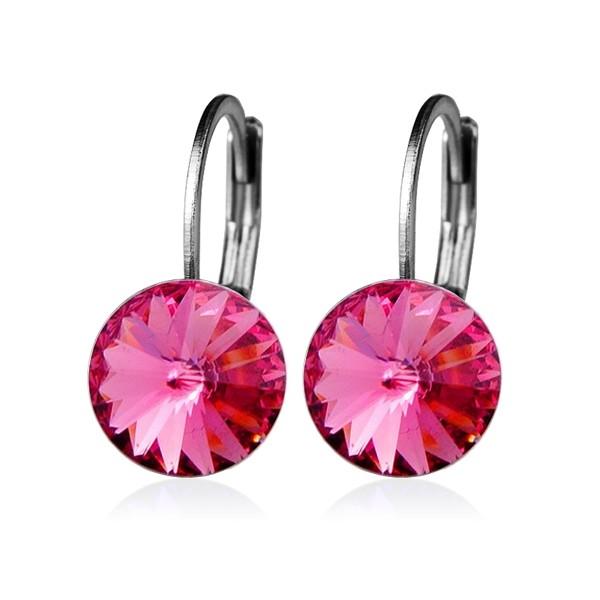 Piercing do jazyku s kamínkem, barva fialová