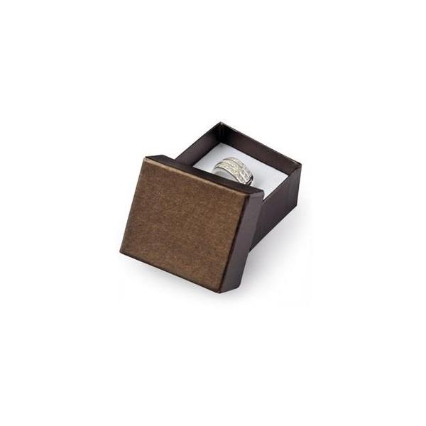 Dárková krabička na zásnubní prsten - imitace dřeva