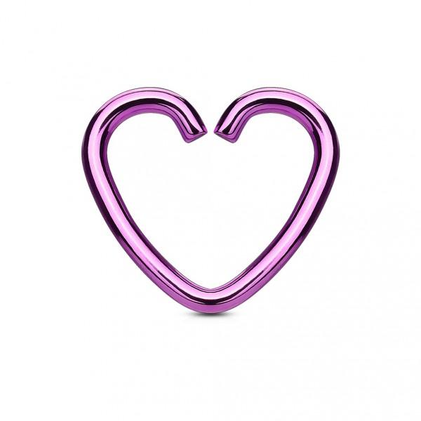 Piercing do pupíku - vnitřní závit, barva růžová