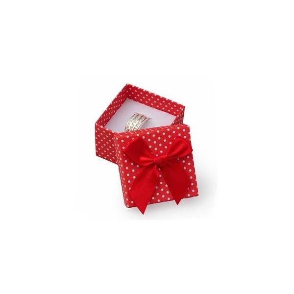 Ocelové náušnice - kytičky červené