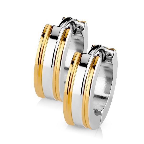 Ocelový prsten se zirkonem, velikost prstenu 50